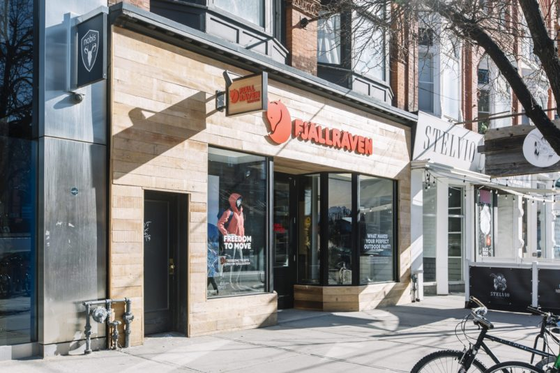 fjallraven toronto retail construction and retail fit up
